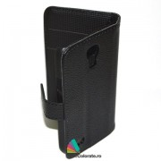 Toc Portofel Piele Ecologica Samsung i9190 Galaxy S4 Mini Negru