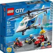 Lego set de construcción lego city policía: persecución en helicóptero 60243