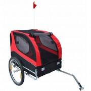 vidaXL Vozík za bicykel pre psov, typ Lassie (červená farba)