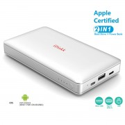 IDISKK MFi Certified 1TB Hard Drive External Storage 10000mAh Power Bank - Silver / Grey