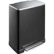 Кош за разделно събиране на отпадъци с педал Eko E-Cube, 28 + 18 л - черен