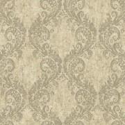 York Wallcoverings wt4522 acuarelas Batik tremel papel pintado, color beige/plata/marrón