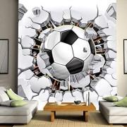 Gzsygcs Murales Para Pared Mural De La Pared Papel Pintado 3D Fútbol Deporte Arte Pintura De La Pared Sala De Estar Dormitorio Tv Fondo Foto Papel Pintado Fútbol-175x250cm