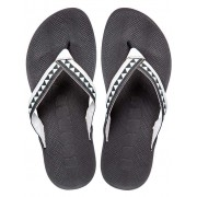 Boombuz Taiga Half Dressed Flip Flop Slippers Black/Grey