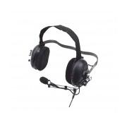 Otto Auricular con Micrófono de Uso Rudo para Radio V4-10516, Negro, para Icom