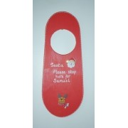 Personalised Christmas red painted door hanger