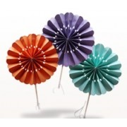 Flower Paper Fans (packs of 10)