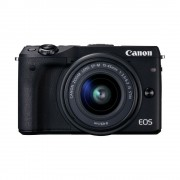 Canon EOS M3 15-45 IS KIT Black Mirrorless Digital Camera Digitalni fotoaparat s objektivom EF-M 15-45mm 3.5-6.3 9694B142AA 9694B142AA