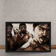 Quadro Decorativo The Walking Dead HQ 25x35