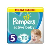 Pampers Active Baby pelenke Megabox Plus, veličina 5 , 110 kom.