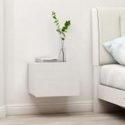 vidaXL Нощни шкафчета, 2 бр, бели, 40x30x30 см, ПДЧ