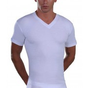 Lord V Neck Short Sleeved T Shirt White 232
