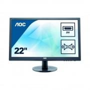 Monitor LED AOC E2275SWJ 21.5 inch 2 ms Full HD Black