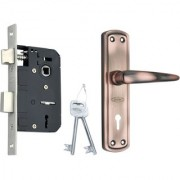 SPIDER Steel Mortice Key Lock Complete Set With Antique Copper Finish ( S811MAC + RML4 )