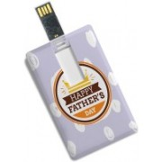 100yellow Credit Card Shape Happy Father's Day Print 8GB /Data Storage -Gift For Dad 8 GB Pen Drive(Multicolor)