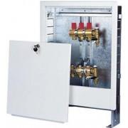 Cutie distribuitor apa metal 335x665, alba, cu incuietoare, reglabila pe inaltime si pe adancimepentru incalzire in pardoseala sau pentru distribuitor calorifere