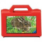 Дървен пъзел - Кубчета с домашни животни - Ravensburger, 7007412