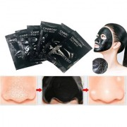 6pcs Activated Black Charcoal pore Deep Cleansing Nose Face Blackhead Remover Mask - 6 Pouches