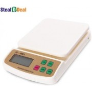 Stealodeal 7kg Digital Multi-Purpose Kitchen Weighing Scale(Off white)