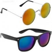 SRPM Round, Wayfarer Sunglasses(Yellow, Blue)
