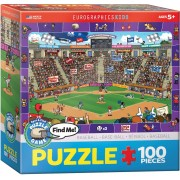 Puzzle Eurographics - Find Me - Baseball, 100 piese (62202)