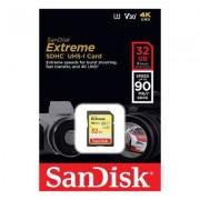 SanDisk Extreme SDHC 32 GB 90MB/s UHS-I Kort med 4K UHD V30