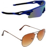Zyaden Combo of 2 Sunglasses Sport and Aviator Sunglasses- COMBO 2793