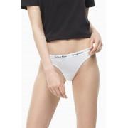 Calvin Klein White Thong s bijelim gumama od remenja