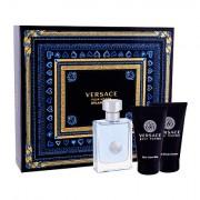 Versace Pour Homme confezione regalo Eau de Toilette 50 ml + doccia gel 50 ml + balsamo dopobarba 50 ml uomo
