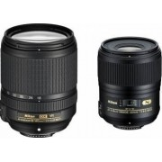Pachet Obiective Foto Nikon AF-S 60mm f2.8G ED + 18-140mm f3.5-5.6G ED VR AF-S D