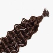 Rapunzel® Hair extensions Bondings Original Lockig 2.0 Dark Brown 40 cm