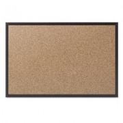 Classic Cork Bulletin Board, 36x24, Black Aluminum Frame