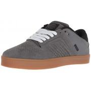 Osiris Techniq VLC Zapatillas de skate para hombre, gris oscuro/negro/Gum, 5 US