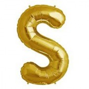 Stylewell 16 Inch Alphabet (S) Soild (Golden) Color 3D Foil Balloons For Birthday And Anniversary Parties Decoration