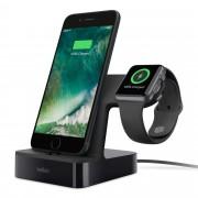 Belkin PowerHouse Charge Dock - сертифицирана докинг станция за зареждане на iPhone и Apple Watch (черен)