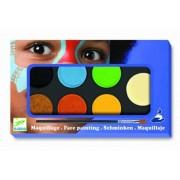 Set Pictura pe fata machiaj copii - 6 culori non alergice Djeco