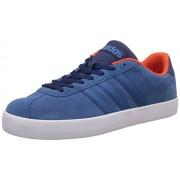 adidas neo Men's Vlcourt Vulc Corblu and Energy Leather Sneakers - 8 UK/India (42 EU)