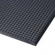 Černá polyuretanová protiúnavová průmyslová rohož Skywalker PUR, ESD - délka 65 cm, šířka 140 cm a výška 1,4 cm
