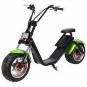 Электроскутер Citycoco Harley LUX зеленый