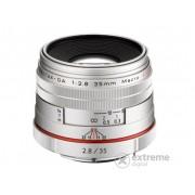 Obiectiv Pentax DA 35/F2.8 Macro HD - Limited Edition, argintiu