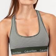 Calvin Klein Unlined Bralette Green/ White