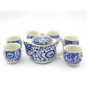 Set ceai Ming - Flori albastre (cod B11-4)