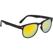 Rich Club Round Sunglasses(Golden, Yellow)