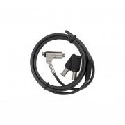 Cable de Seguridad Targus con candado de llave. Color Gris. ASP65GLX