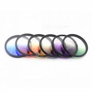 fotografia especial de 58 mm traje de filtro gradual para lente de la camara - negro + blanco + multicolor