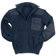 MIL-TEC® | Svetr na zip s kapsou MODRÝ vel.54