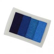 Magideal 4 Shade Colors Ink Pad Fingerprint Korea DIY Craft Embossing Colorful Blue