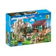 Playmobil ® Action Roca de escalada con cabaña 9126