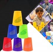 6 Piezas Colores Mezclados Speed Stack IV Velocidad Deporte Formativo Apilar Tazas