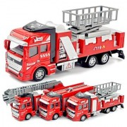 EREIN All New Imported Die Cast Metal FIRE Trucks Toy Set of 3 for your kids